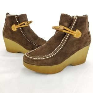 TOMMY HILFIGER Tommy Girl Ankle Boots Brown Leathe